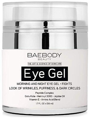 Baebody Eye Gel for Appearance of Dark Circles, Puffiness, Wrinkles and Bags