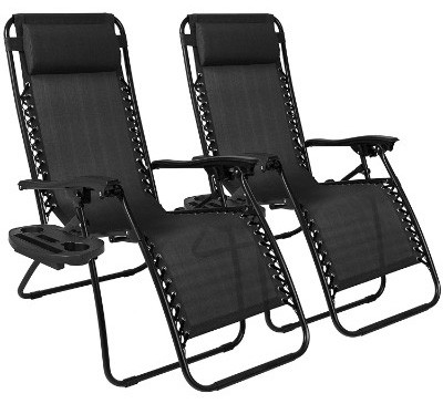 Best Choice Products Set of 2 Adjustable Zero Gravity Lounge Chair Recliners for Patio