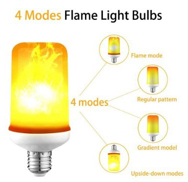 LED Flicker Flame Effect Light Bulb with Upside Down Effect, E26 LED Flickering Bulb