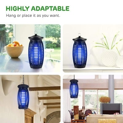 S SAVHOME Upgraded Electric Bug Zapper, Insect Killer, Mosquito Trap