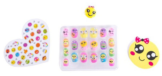 Hot Focus Pop Nail Glitz - 3D Emoji Nail Art Kit for Girls