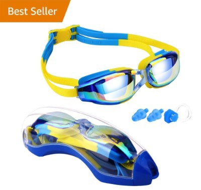 Hurdilen Kids Swim Goggles, Swim Goggles for Kids Swimming Goggles