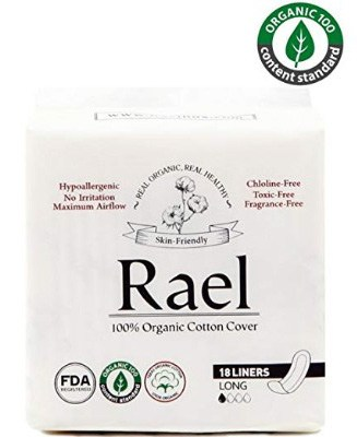 Rael Certified Organic Cotton, Unscented, Natural Daily Panty-Liners