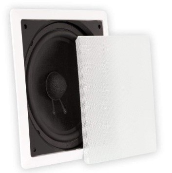 Theater Solutions TS1000 In-Wall Surround Sound HD Home Theater Passive Subwoofer