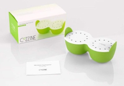 Cozzine Egg Cooker Silicone Egg Poaching Cups with Ring Standers