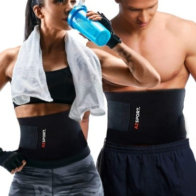 AZSPORT Waist Trimmer - Adjustable Ab Sauna Belt