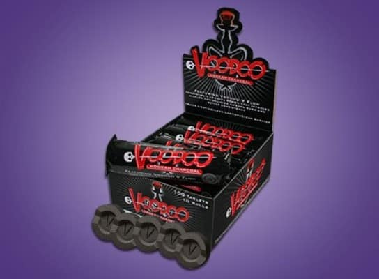 Voodoo Hookah Charcoal Coals- 100 Pieces