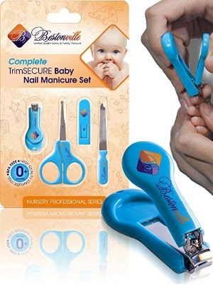 Baby Nail Clippers Set with Scissors and File - Newborn or Infant - Great Shower Gift