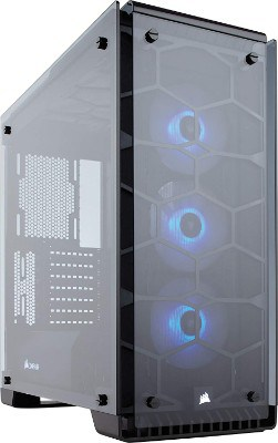 CORSAIR Crystal 570X RGB Mid-Tower Case, 3 RGB Fans, Tempered Glass