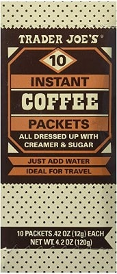 Trader Joe's Instant Coffee Packets with Creamer & Sugar 10 Packets