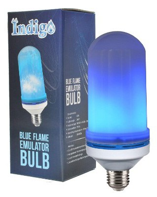 Indigo Led Flame Bulb - Flickering Light Bulb - Single Fire Effect