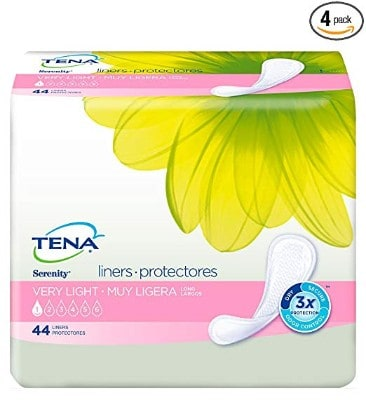 Tena Incontinence Liners for Women, Long