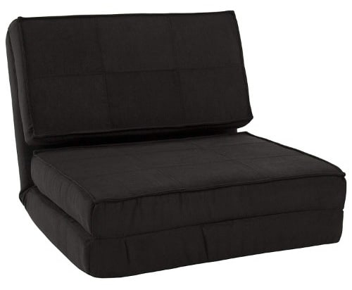 Best Choice Products Convertible Sleeper Chair Bed (Black)