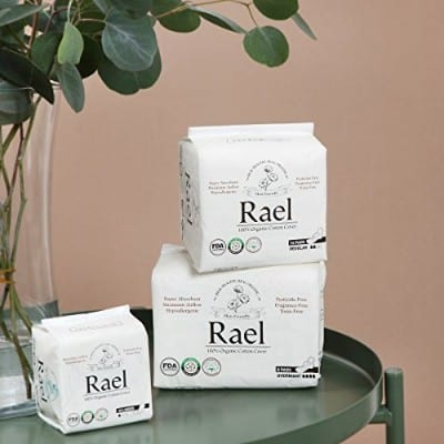 Rael Certified Organic Cotton Panty Liners, Regular