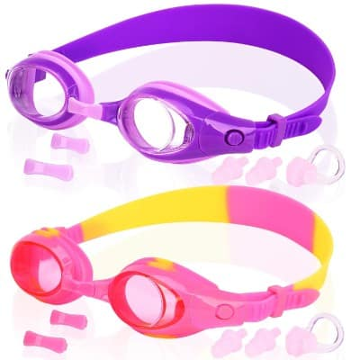 COOLOO Kids Swim Goggles, Pack of 2, Swimming Glasses for Children and Early Teens