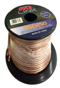 50ft 12 Gauge Speaker Wire - Copper Coated Cable in Spool