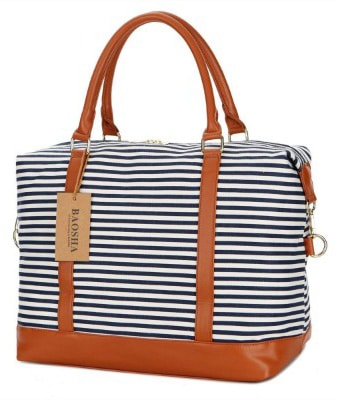 BAOSHA HB-28 Ladies Women Canvas Travel Weekender Overnight
