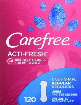 Carefree Acti-Fresh Panty Liners, Regular, Unscented