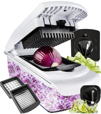 Vegetable Chopper Spiralizer Vegetable Slicer - Slicer Dicer Onion Chopper