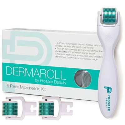 Derma Roller Microneedle 5 Piece DERMAROLL Kit by Prosper Beauty