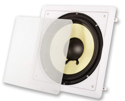 Acoustic Audio HDS10 In Wall 10 Home Theater Passive Subwoofer Speaker
