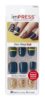Kiss Products Impress Gel Nails with Glitter Accents