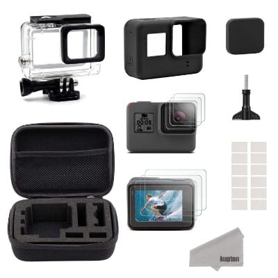 Kupton Accessories for GoPro Hero 7:6: 5: Hero (2018) Starter Kit Travel Case