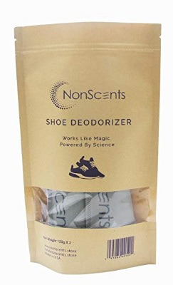 NonScents Shoe Deodorizer, 1 Pack, Fragrance-Free Odor Eliminator Sachets