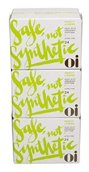 Oi Organic Cotton Panty Liners - Ultra Thin 72 Count