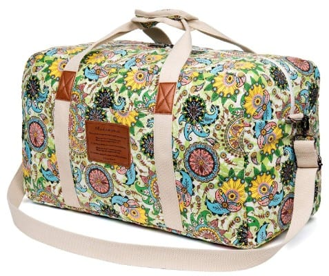 Malirona Canvas Weekender Bag Travel Duffel Bag for Weekend Overnight Trip