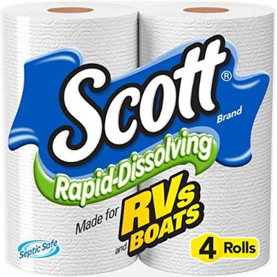 Scott Rapid-Dissolving Toilet Paper, Bath Tissue for RV & Boats