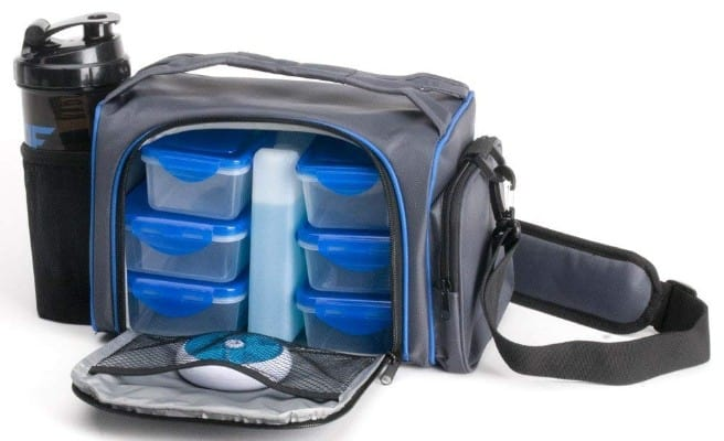 ThinkFit Insulated Lunch Boxes with 6 Portion Control Containers, Reusable Ice Pack
