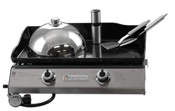 Brasero Portable 26 inch Outdoor Flat Top Gas Griddle -2 Burners