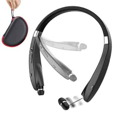 Foldable Bluetooth Headset, Beartwo Lightweight Retractable Bluetooth Headphones