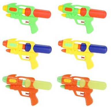 Fun-Here Water Guns 9 Inch 6 Packs for Kids Adults Multicolor Squirt Gun