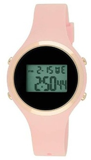 Moulin Ladies Pastel Color Digital Jelly Watch Pink