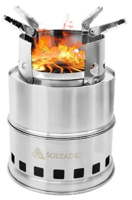 SOLEADER Portable Wood Burning Camp Stoves