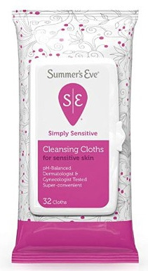Summers Eve Cleansing Cloths 32 Count Simply Sensitive