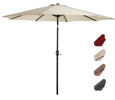 EASELAND Patio Umbrella 9-Feet Outdoor Table Market Umbrella Push Button