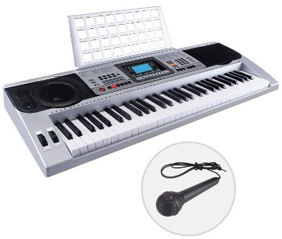 LAGRIMA 61 Key Portable Electric Piano Music Keyboard w:Music Stand