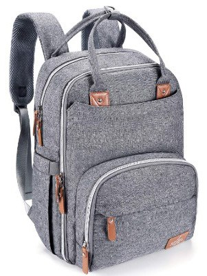 Diaper Bag Backpack, BabbleRoo Neutral Travel Back Pack