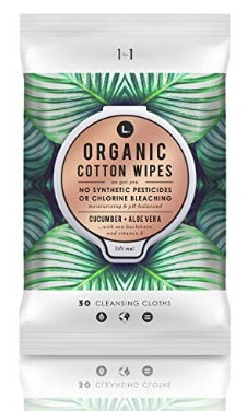 L. Organic Cotton Feminine Wipes with Cucumber + Aloe