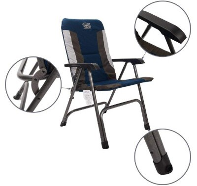 Timber Ridge Camping Chair Portable High Back