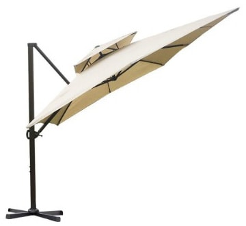 Abba Patio 9 by 12-Feet Square Offset Cantilever Umbrella Dual Wind Vent Patio
