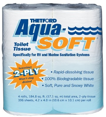 Aqua-Soft Toilet Tissue - Toilet Paper for RV and Marine