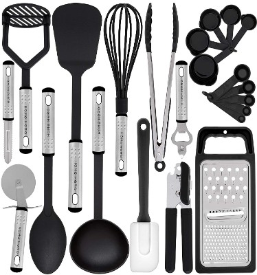 Kitchen Utensil Set - 23 Nylon Cooking Utensils - Kitchen Utensils with Spatula