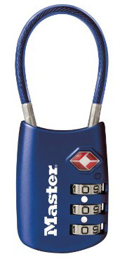 Master Lock Padlock, Set Your Own Combination TSA Accepted Cable Luggage Lock