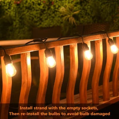 Mpow 49ft LED String Lights, Waterproof Dimmable Outdoor String Lights
