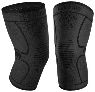 CAMBIVO 2 Pack Knee Brace, Knee Compression Sleeve Support