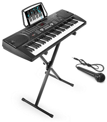 Hamzer 61-Key Digital Music Piano Keyboard - Portable Electronic Musical Instrument - with Stand